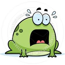 scared little frog by cory thoman toon vectors eps 8366