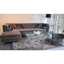 living room velvet sectional sofa roselawnlutheran regarding grey