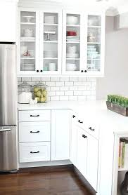 Glass Cabinets In Kitchen Kitchen Glass Cabinets Amicidellamusica Info