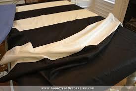 Black And White Draperies Diy Black U0026 White Horizontal Striped Draperies U2013 Part 1