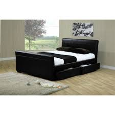lovely leather bed frame ireland queen faux leather bed black