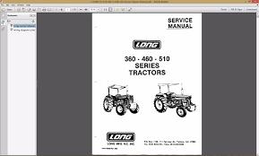 amazon com long 360 460 510 2460 series tractor service repair