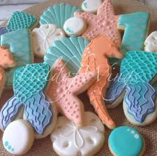 seashell shaped cookies 59 best tropical nautical decorated cookies images on