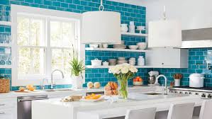 blue tile kitchen backsplash 11 beautiful blue kitchens coastal living