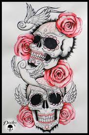 skull half sleeve by deebz design on deviantart