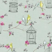 bird wallpaper home decor arthouse wallpaper overture teal at wilko com