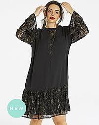 plus size lace dresses black u0026 white lace dresses simplybe us site