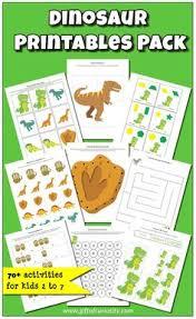 dinosaur preschool printable pack dinosaurs preschool preschool