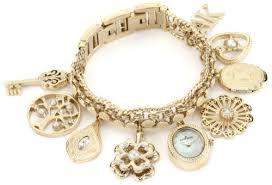 anne klein charm bracelet watches images 5 ak anne klein women 39 s 10 8096chrm swarovski crystal accented jpg