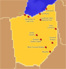ohio on the map of usa ohio attractions click on the map or select from the list below