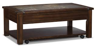 roanoke coffee table with lift top and casters the brick