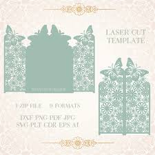 Shop Invitation Card Paper Cut Out Card Laser Cut Pattern For Invitation Card For