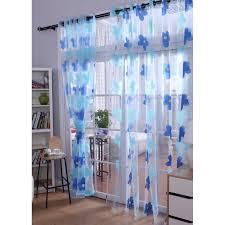 sweet blue floral design sheer curtains for home buy blue sheer