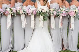 bridesmaid bouquet custom monogrammed bouquet ribbon 3 wide grosgrain bridal