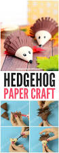 cute hedgehog paper craft easy peasy and fun