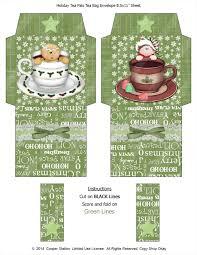 digital printable holiday tea bag envelope christmas tea tea