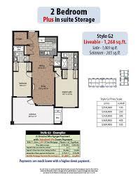 in suite plans 2 bedroom plans yorkson creek