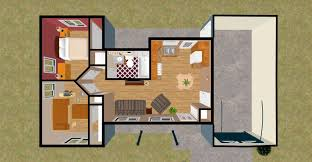 5 Bedroom One Story Floor Plans by Awesome One Bedroom House Floor Plans In One Bedro 1024x1024