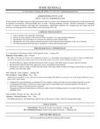 Sample Resume Objectives For Training by Attorney Resume Samples Berathen Com