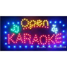 shop open sign lights aliexpress com buy 2017 led karaoke shop open signs 24x 13 inch