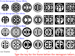 three letter monogram circle monograms harold s fonts