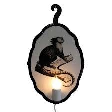 Monkey Sconces Primate Wired Sconce Wanderlust Ceramics