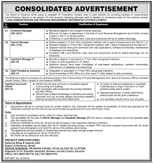 Resume Jobs Unix by Board Of Revenue Sindh Requires Accounts And Management Staff For