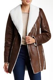 kenneth cole new york faux shearling coat nordstrom rack