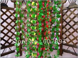 Artificial Flower Decorations For Home Artificial Maple Leaf Faux Silk Ivy Fake Flower Fabric Vine Home