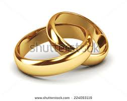 gold wedding rings for pair gold wedding rings stock illustration 224093119