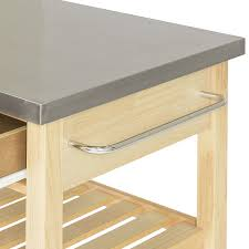 kitchen island cart with stainless steel top 53 most hunky dory stainless steel kitchen island cart center prep