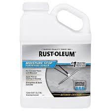 Rust Oleum Epoxyshield Basement Floor Coating by Rust Oleum 1 Gal Moisture Stop 301239 The Home Depot