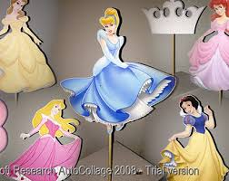 Cinderella Centerpieces Disney Princess Centerpiece Etsy