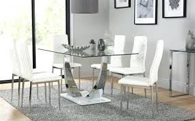 glass and chrome dining table glass dining table with chairs glass chrome dining table white gloss