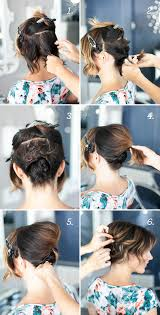 wedding hairstyles step by step instructions pretty simple updo for short hair camille styles