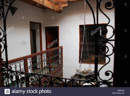 Moroccan Houses by Traditional Moroccan House With Inside Balcony Fez Morocco Stock