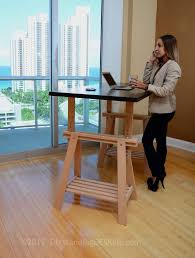 Adjustable Standing Desk Diy The Height Adjustable Diy Standing Desk Ikea Conversion Kit