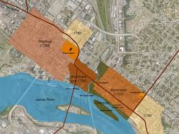 Map Of Richmond Va Urban Scale Richmond William Byrd U0027s Early Settlement At Shockoes