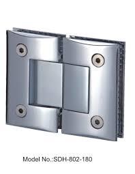 180 degree shower door hinges for frameless shower door glass to
