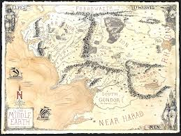 Map Middle Earth Large Map Of Middle Earth Jared Blando Twitter Original Art Map