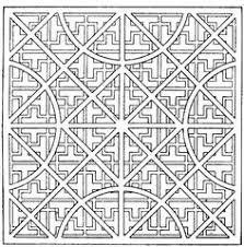 pretentious geometric coloring pages adults abstract doodle