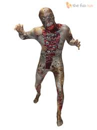 Scary Monsters For Halloween Morphsuit Monster Kids Boys Robot Zombie Halloween Fancy Dress