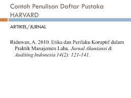 panduan penulisan daftar pustaka dari jurnal metodologi penelitian ppt download