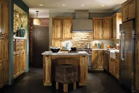 Rustic Kitchen Hardware - kitchen enchanting rustic hickory kitchen cabinet with wicker