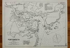 Nautical Maps Portsmouth Antique Maps And Charts U2013 Original Vintage Rare