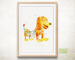 disney prints toy story prints slinky dog prints watercolor