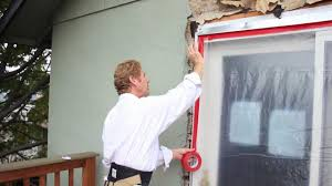 sliding glass door protection tape or mask off a door or window with vinyl or poly tape youtube
