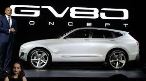 hyundai genesis suv genesis previews future fuel cell suv with gv80 concept roadshow