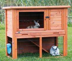 Rabbit Hutch Wood Small Animal Enclosure Hutch For Guinea Pig Bunny Rabbit Cage