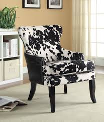 sale 289 00 black white cowhide print accent chair accent
